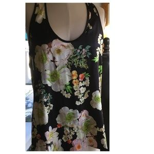 Zinke Silk Racerback Floral Print Top size M